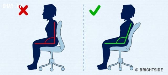 Tư thế ngồi,thói quen xấu,thói quen không tốt cho sức khỏe