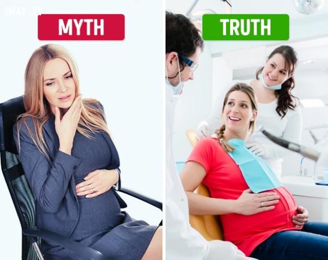Không chữa bệnh về răng miệng khi mang thai,vệ sinh răng miệng,đánh răng,phòng sâu răng,đau răng,mọc răng khôn