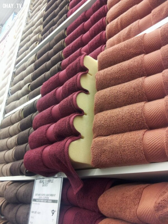 Bạn nghĩ bạn đang nhìn vào hàng trăm cái khăn được xếp chồng lên nhau?,những điều thú vị trong cuộc sống