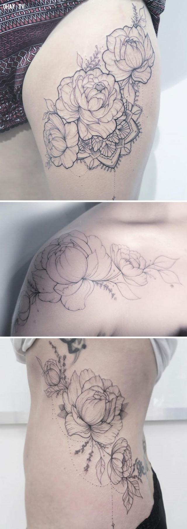 Tổng hợp 100++ mẫu hình xăm hoa lá đẹp mê ly nhìn là muốn thử