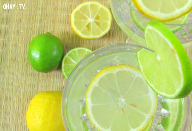 2. Uống nước chanh,cách làm trắng da,ăn gì để da trắng,quả chanh