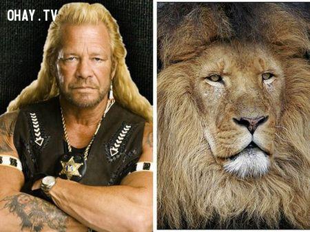 Dog The Bounty Hunter và sư tử,