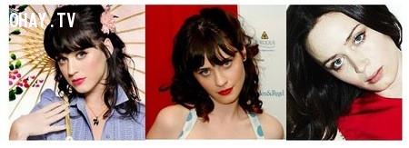 Nữ ca sĩ nổi tiếng Katy Perry và 2 diễn viên Zooey Deschanel; Emily Blunt,