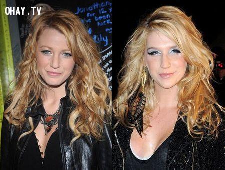 Nữ diễn viên Blake Lively và ca sĩ Ke$ha,