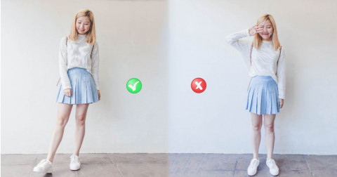 3 cách chụp ảnh giúp chân dài hơn