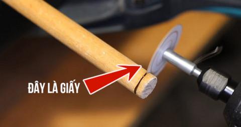 Tại sao giấy có thể cắt được nhựa, gỗ?