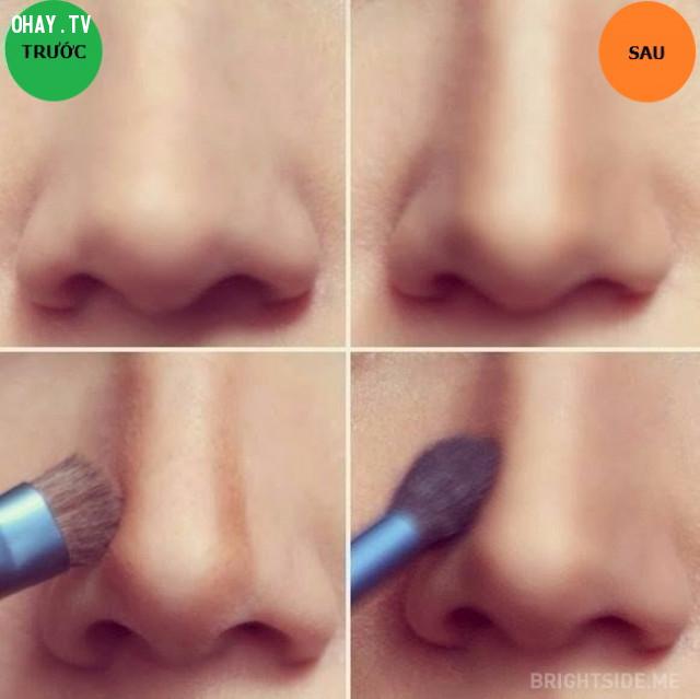 Tạo khối cho mũi,mẹo trang điểm,làm đẹp