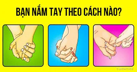 Cách nắm tay tiết lộ điều gì về tình yêu của bạn?