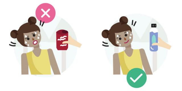 Sai lầm # 2: Đưa cho người bị mất nước một lon soda ,sơ cứu,sai lầm cần tránh