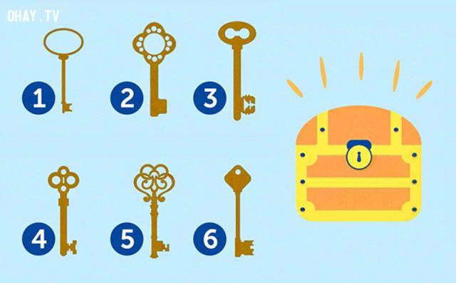 Nếu để chọn một chiếc chìa khóa, bạn sẽ chọn chiếc nào dưới đây?