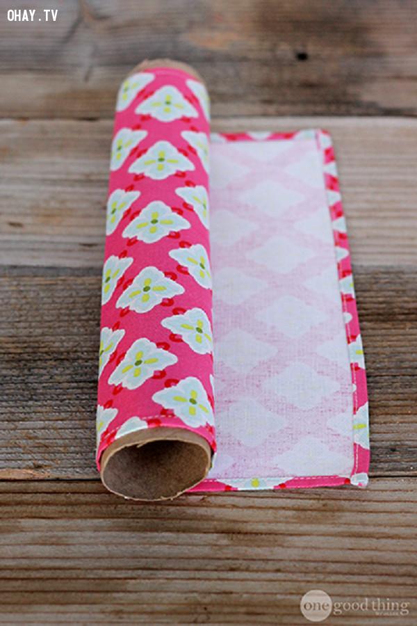 6. Cuộn giấy màu,mẹo vặt,lõi giấy vệ sinh