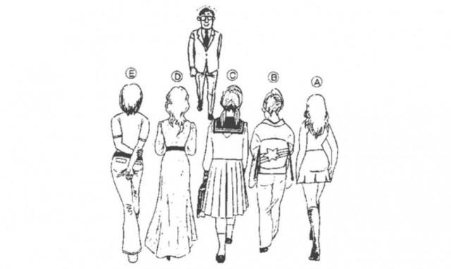 Chàng trai trong hình đang đi về phía các cô gái, theo bạn anh ấy đang chăm chú nhìn ai?