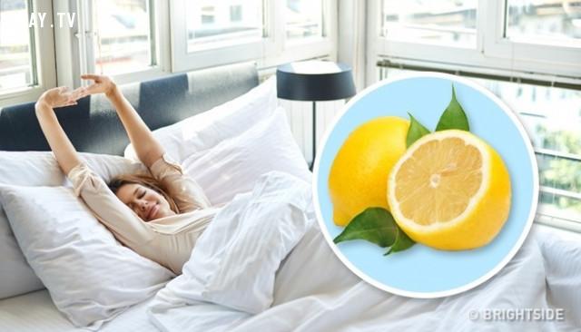 1. Giúp bạn thư giãn,cải thiện giấc ngủ,quả chanh,trị mất ngủ,cách để ngủ ngon