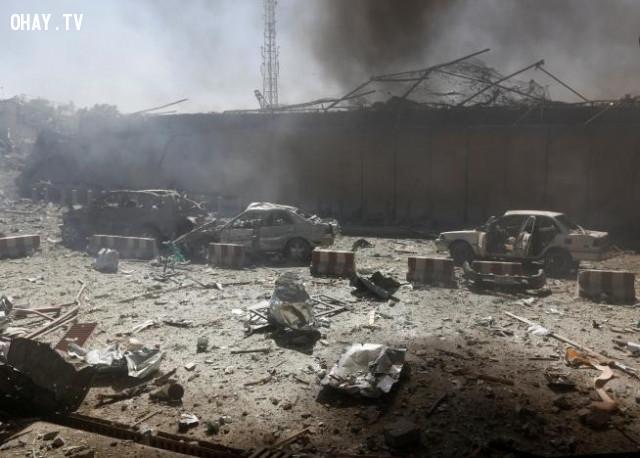 Sức tàn phá của vụ nổ tại Afghanistan,