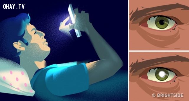 3. Sử dụng điện thoại thông minh trước khi đi ngủ,thói quen xấu,thói quen không tốt