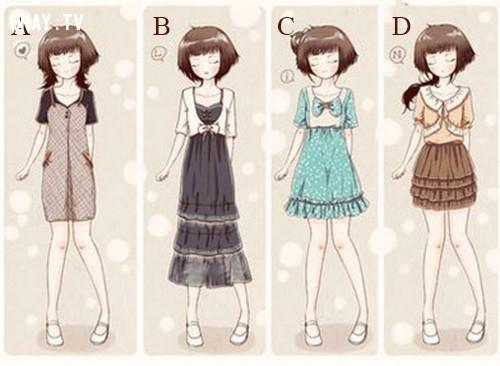 Dựa vào cảm giác, hãy chọn bộ trang phục mà bạn thích nhất.