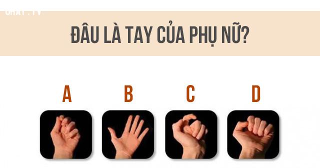 Theo bạn, bàn tay nào là tay của nữ giới?