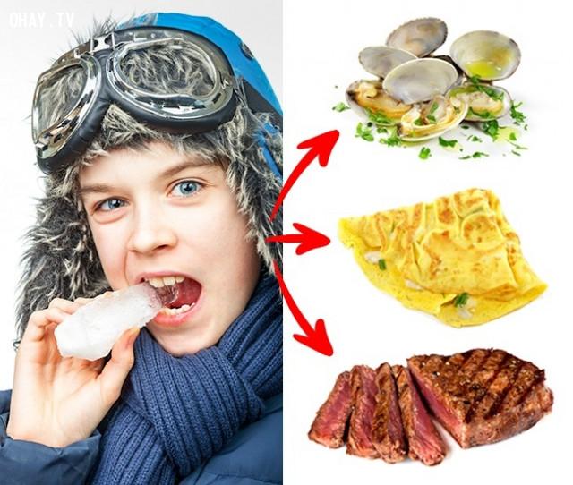 4. Thèm ăn đá ,dấu hiệu sức khỏe