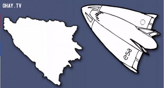 6. Bosnia và Herzegovina - Đất nước hình phi thuyền,bản đồ,châu âu,bí quyết ghi nhớ