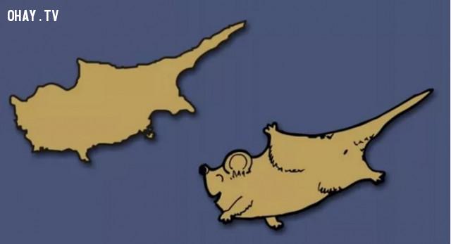9. Cộng hòa Síp -  Giống như một chú chuột đang vui vẻ tung tăng bay nhảy,bản đồ,châu âu,bí quyết ghi nhớ