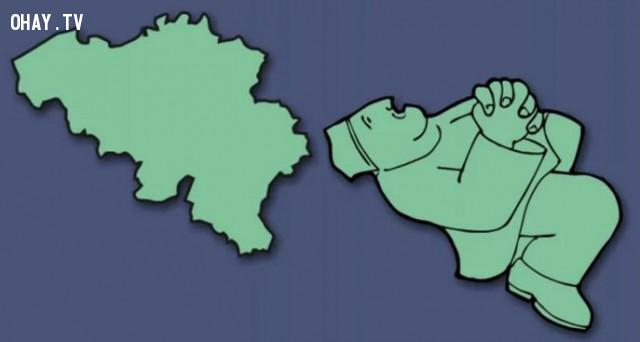 5. Vương quốc Bỉ - Một người đàn ông đang chắp tay cầu nguyện,bản đồ,châu âu,bí quyết ghi nhớ