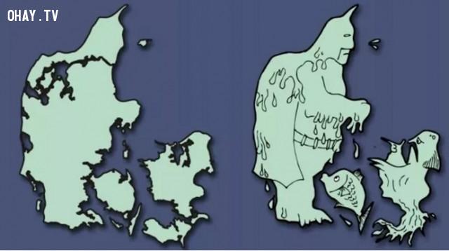 11. Đan Mạch - Batman và những người bạn ,bản đồ,châu âu,bí quyết ghi nhớ