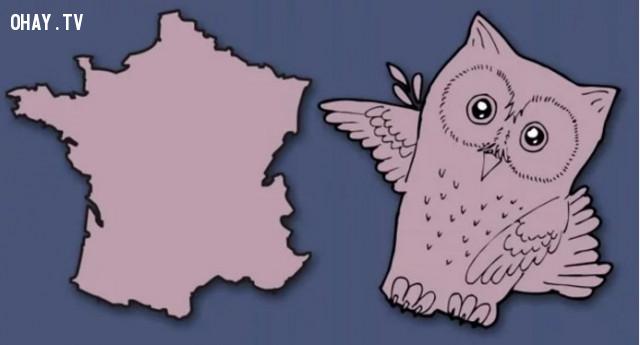 14. Pháp - Đất nước hình con cú,bản đồ,châu âu,bí quyết ghi nhớ