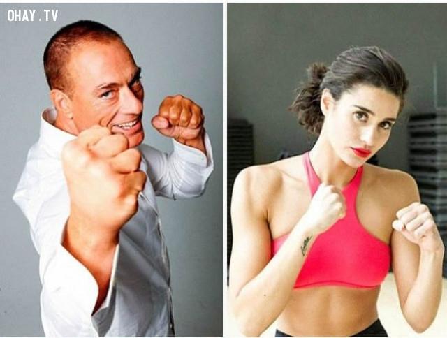 Ngôi sao võ thuật Jean-Claude Van Damme và con gái Bianca Brigitte VanDamme,