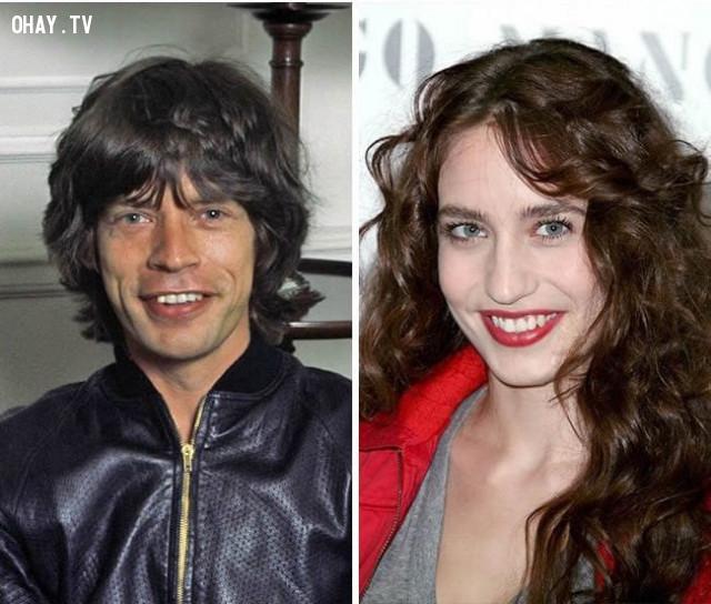 """""""Rocker huyền thoại"""" Mick Jagger và con gái Lizzie Jagger,"""