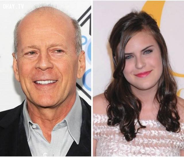 Tài tử Bruce Willis và con gái Tallulah Belle Willis,