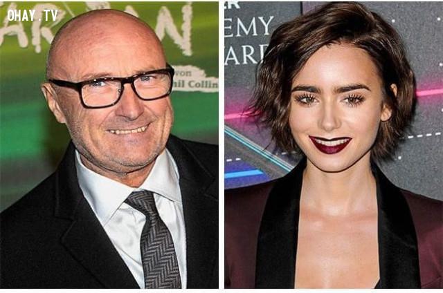 Danh ca Phil Collins và ái nữ Lily Collins,