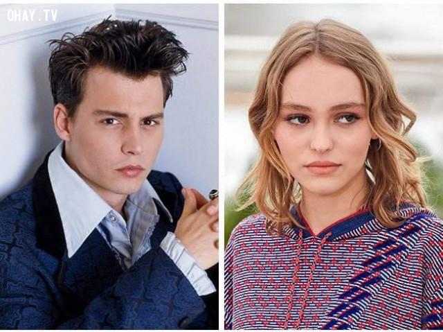 """""""Cướp biển vùng Caribbean"""" Johnny Depp và con gái Lily-Rose Melody Deep,"""