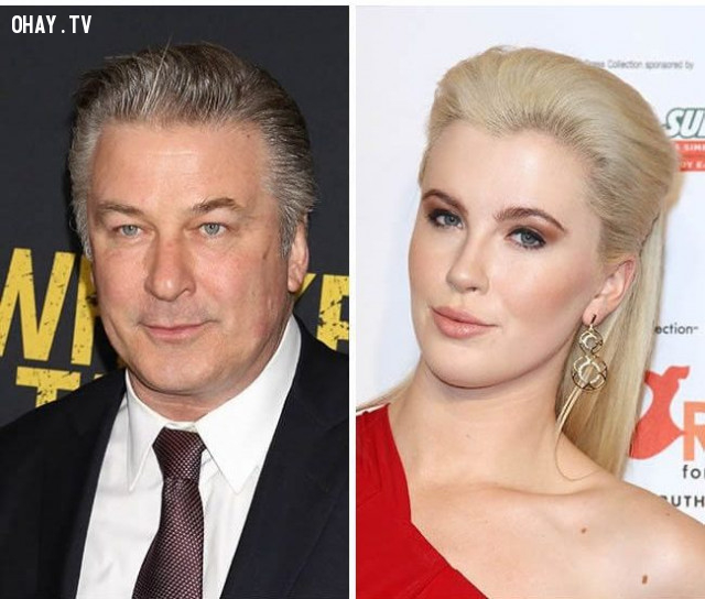 Tài tử Alec Baldwin và con gái Ireland Baldwin,