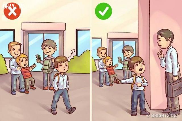 1. Giữ im lặng về hành động xấu của một ai đó,
