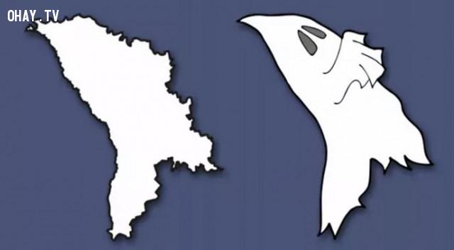 29. Cộng hòa Moldova - Lại là một con ma nữa,bản đồ,châu âu,bí quyết ghi nhớ