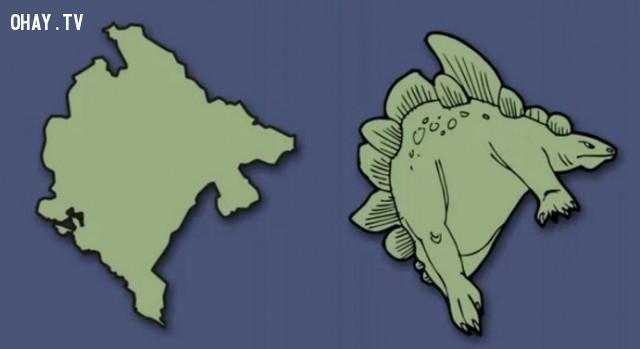 31. Montenegro - Một con khủng long mạnh mẽ,bản đồ,châu âu,bí quyết ghi nhớ