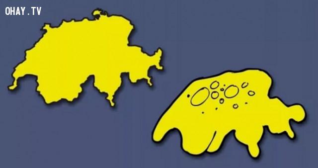 44. Thụy Sĩ - Đất nước có hình trùng biến hình,bản đồ,châu âu,bí quyết ghi nhớ