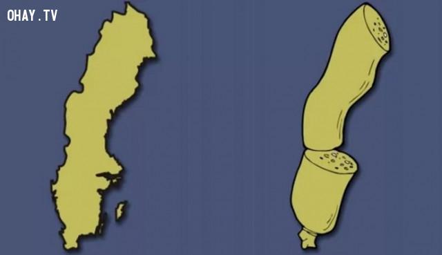 43. Thụy Điển - Một khúc xúc xich thơm ngon,bản đồ,châu âu,bí quyết ghi nhớ