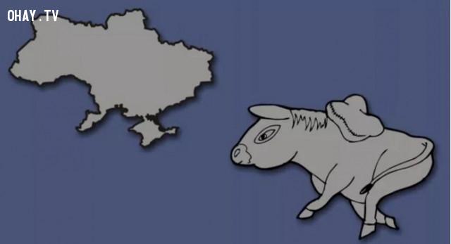 47. Ukraine - Đất nước hình con lừa,bản đồ,châu âu,bí quyết ghi nhớ