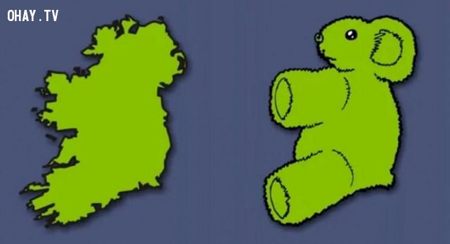35. Cộng hòa Ireland và Bắc Ireland - Một chú gấu Teddy,bản đồ,châu âu,bí quyết ghi nhớ