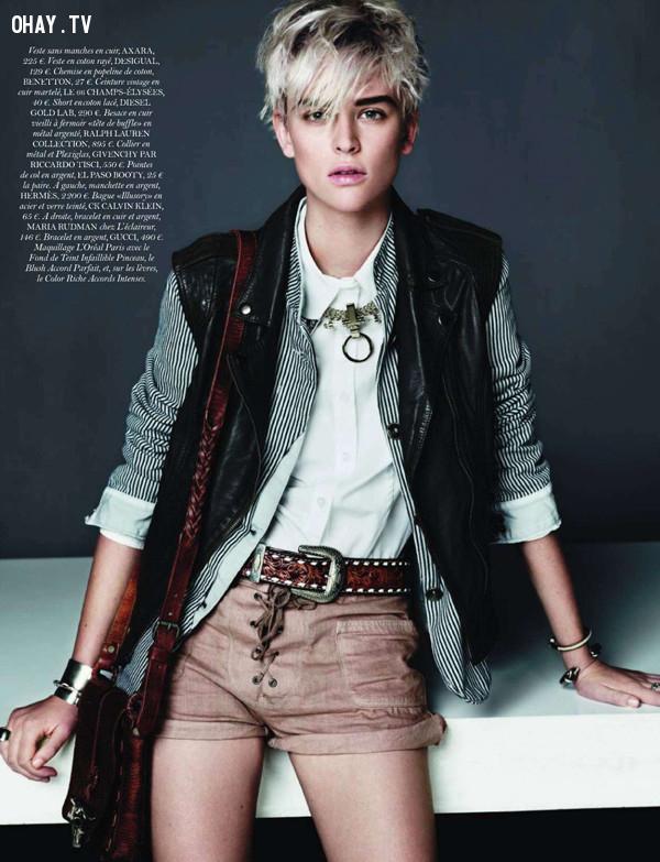 Milou Van Groesen ,người mẫu,vẻ đẹp phi giới tính,thời trang
