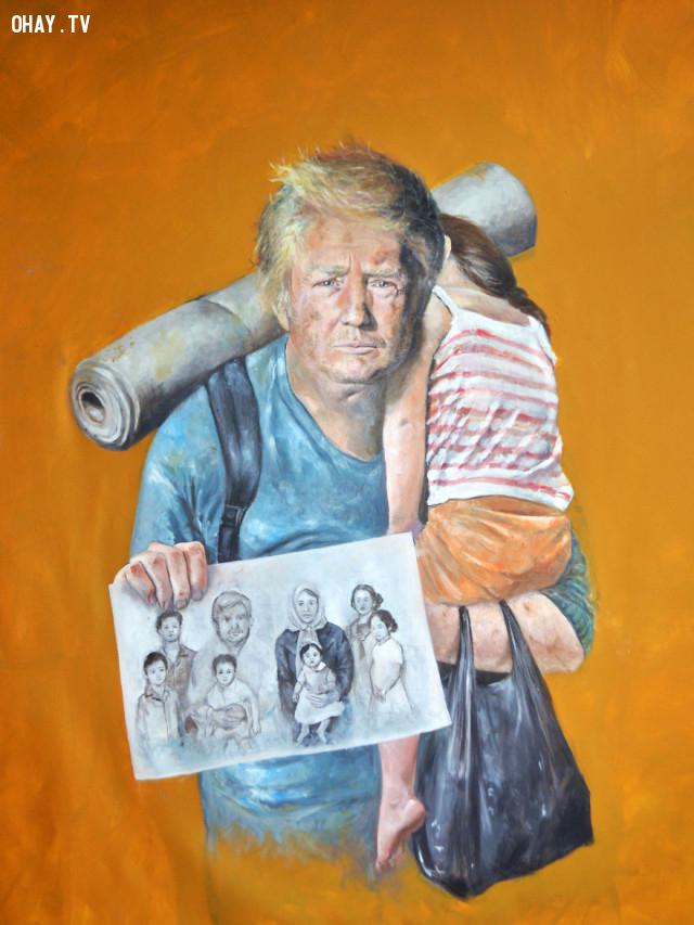 #1 Tổng thống Mỹ Donald Trump,người tị nạn,người nhập cư,Abdalla Al Omari