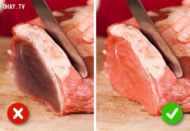 6. Thịt,chất lượng thực phẩm,mẹo nhà bếp,mẹo nội trợ