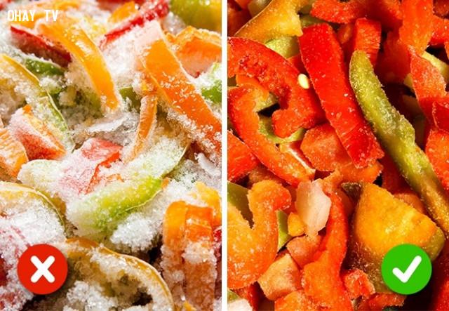 4. Rau, củ, quả đông lạnh,chất lượng thực phẩm,mẹo nhà bếp,mẹo nội trợ