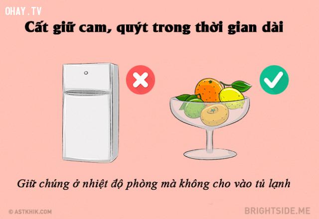 #6. Cách để cất giữ cam quýt,mẹo nhà bếp
