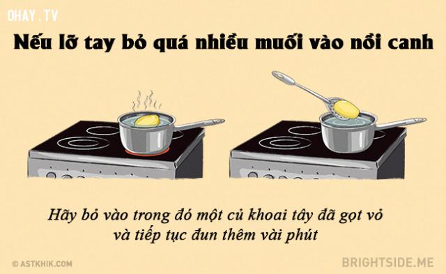 #8. Cách để cứu món canh bị mặn,mẹo nhà bếp