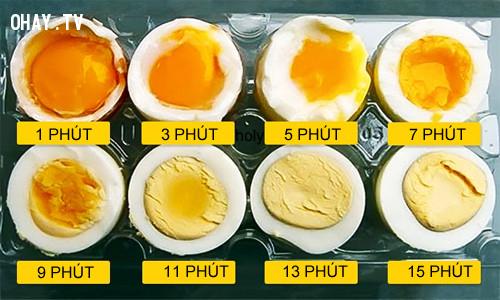 #2. Canh thời gian để có món trứng lòng đào đúng chuẩn,mẹo nhà bếp