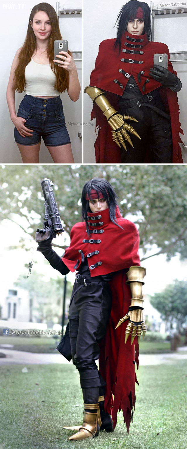 #7 Vincent Valentine trong Final Fantasy,cosplay,Alyson Tabbitha