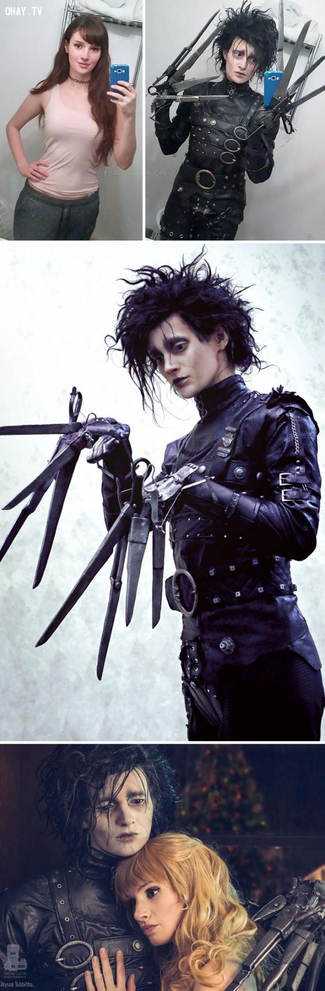 #1 Nhân vật Edward Scissorhands,cosplay,Alyson Tabbitha