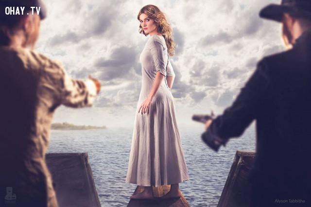 #21 Tiểu thư Elizabeth Swann trong Cướp biển vùng Caribê,cosplay,Alyson Tabbitha